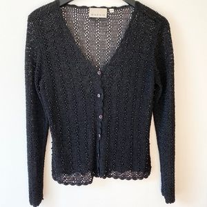 Vintage Crochet Cardi with Beads